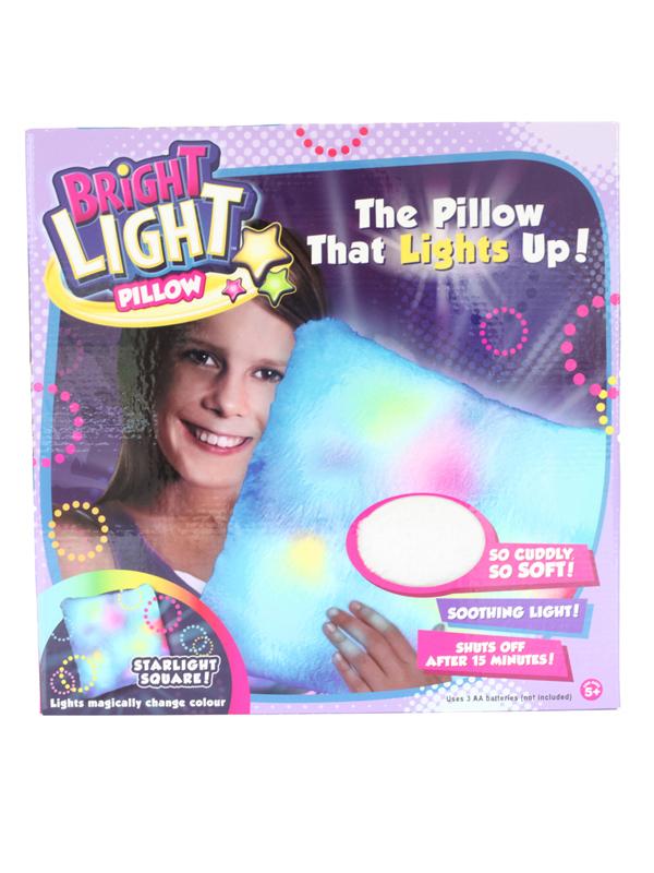 Bright Light Starlight Square White Pillow