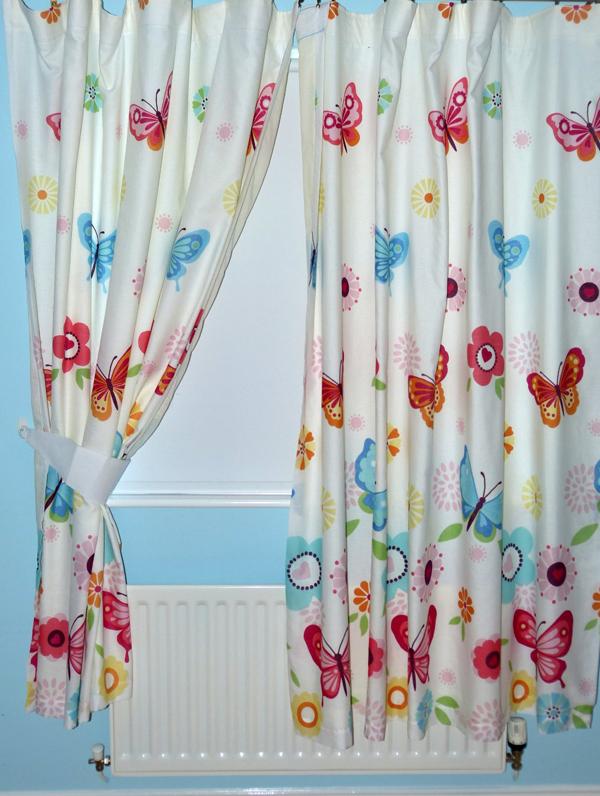 Butterflies Lined Curtains