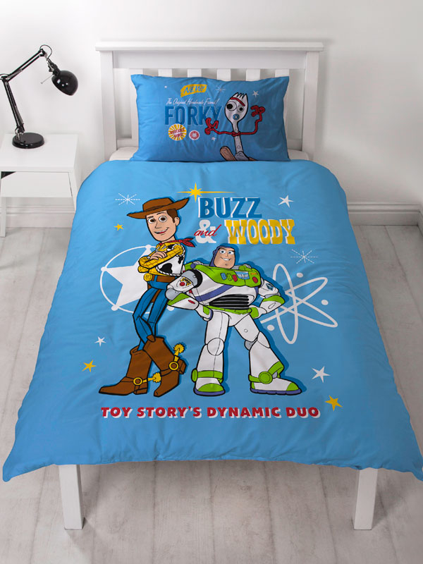 Toy Story Rescue 4 in 1 Junior Bedding Bundle Set (Duvet, Pillow and