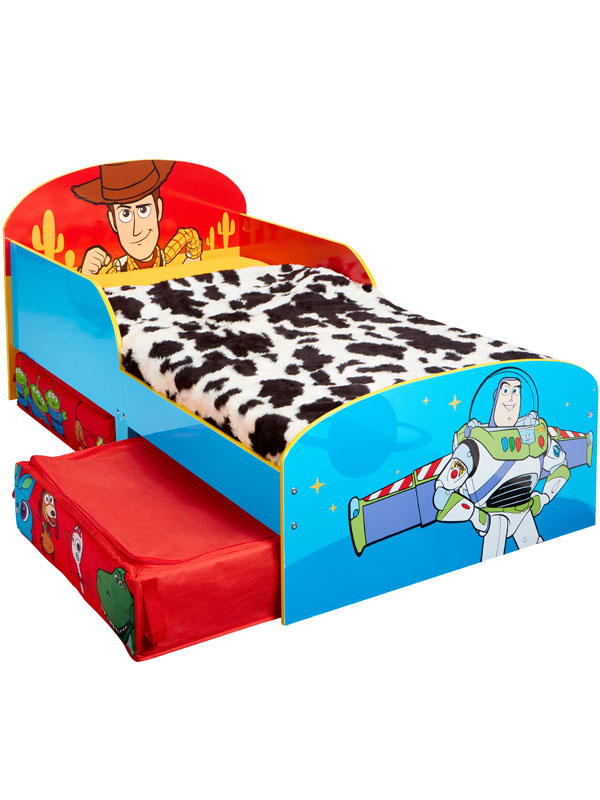 Toy Story 4 Toddler Bed With Fibre Mattress and Storage
