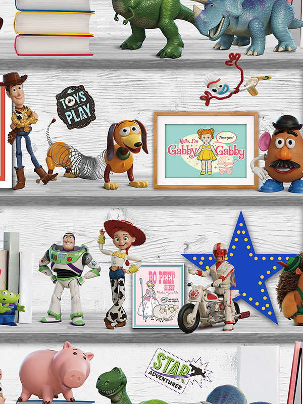 Disney Toy Story 4 Play Date Wallpaper Multi Graham    Brown 105828