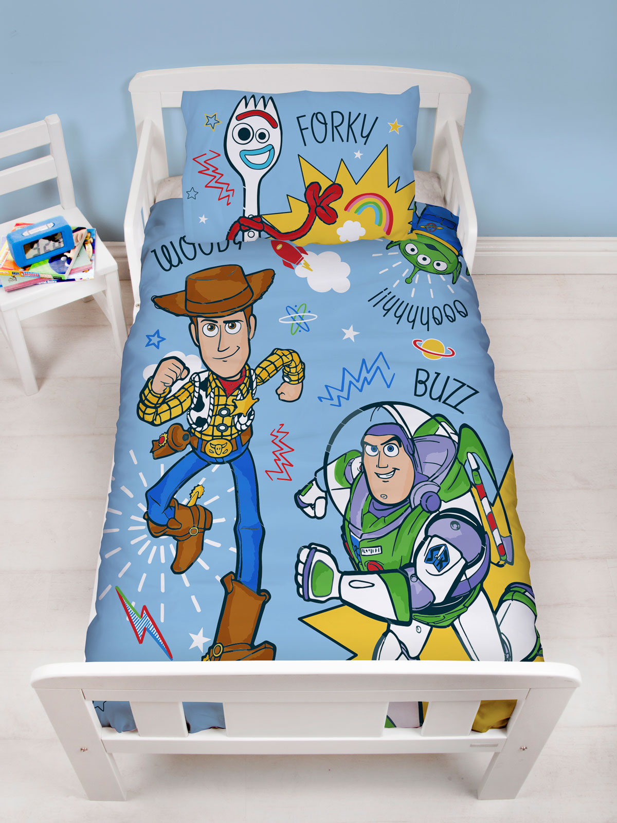 Toy Story Roar 4 in 1 Junior Bedding Bundle Set (Duvet, Pillow and
