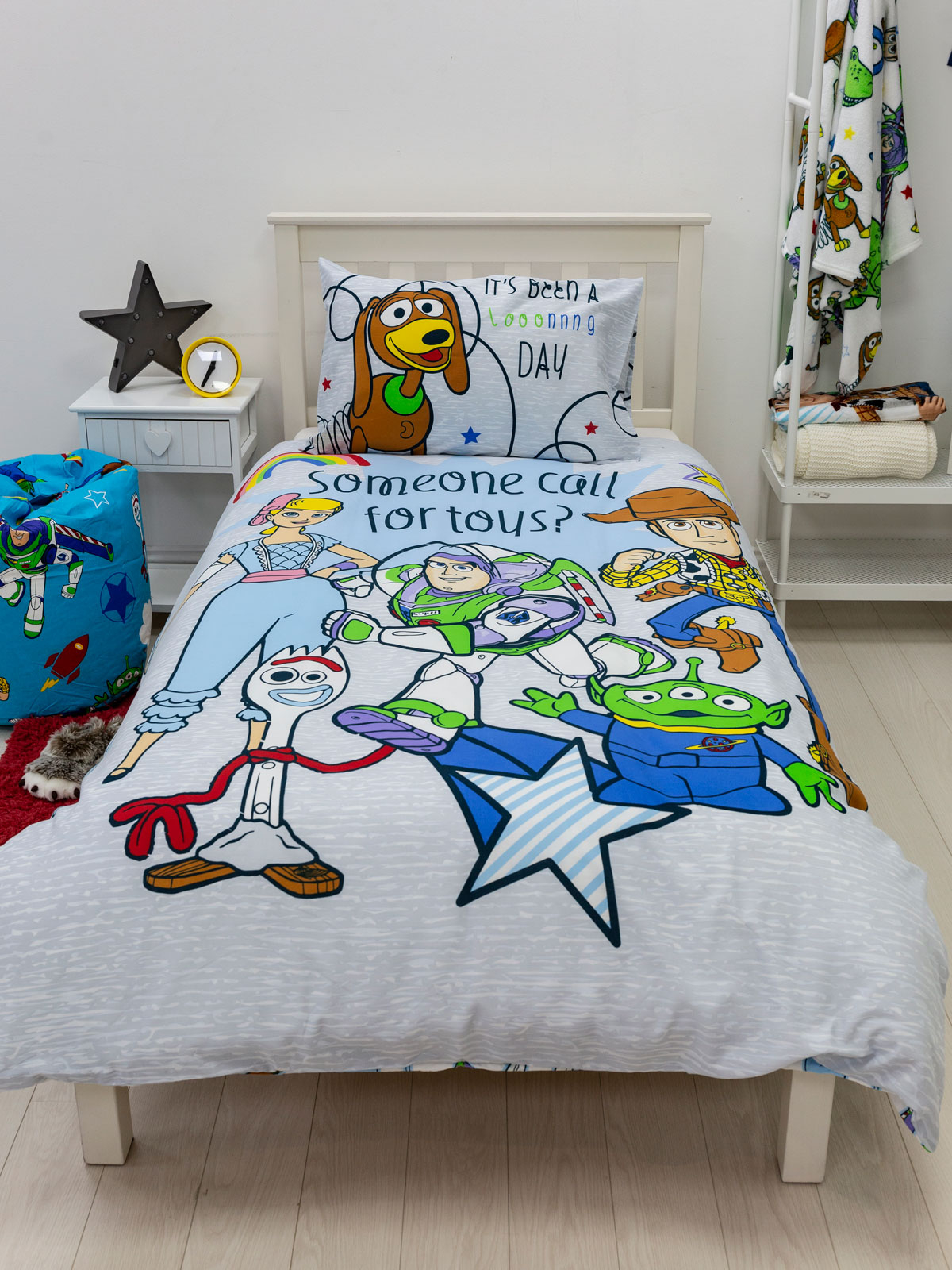 Toy Story 4 Roar Single Duvet Cover and Pillowcase Set