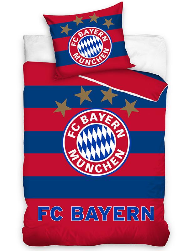 FC Bayern Munich Stripe Single Cotton Duvet Cover Set - European Size