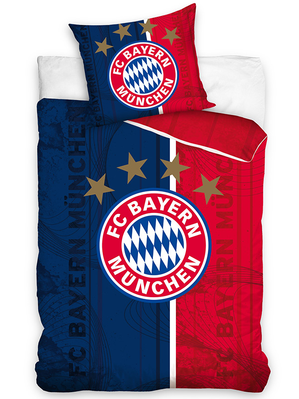 FC Bayern Munich Crest Single Cotton Duvet Cover Set - European Size
