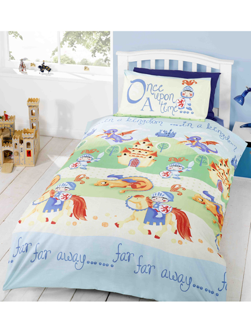 Duvet Covers Camelot Knights Single Duvet Cover and Pillowcase Set