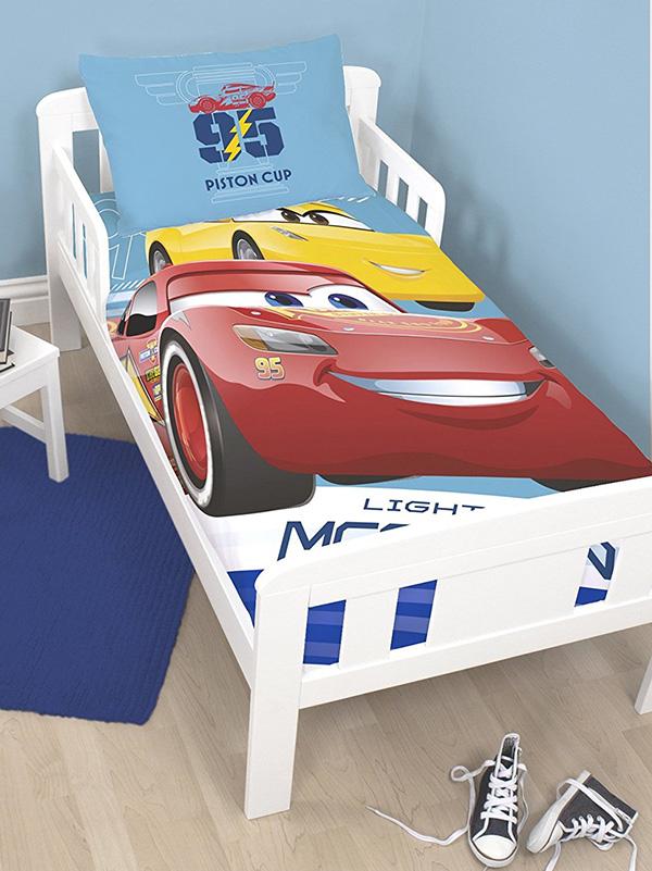 disney cars 3 lightning junior toddler duvet cover and pillowcase set