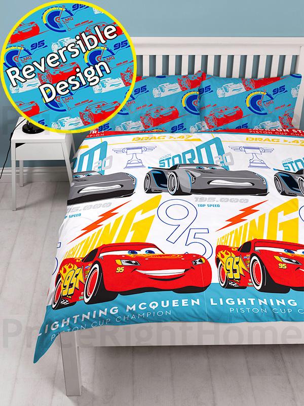 disney cars 3 lightning double duvet cover and pillowcase set