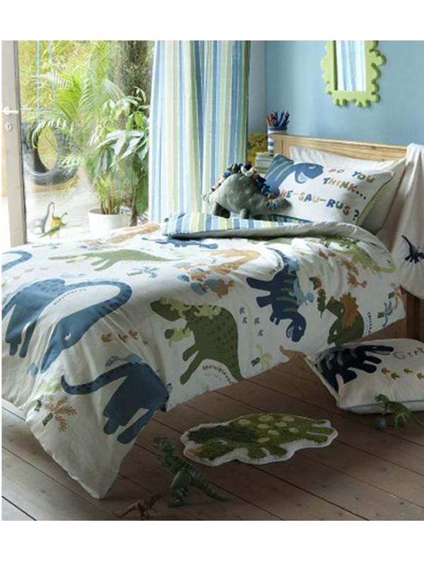 catherine lansfield dinosaur single duvet cover and pillowcase set