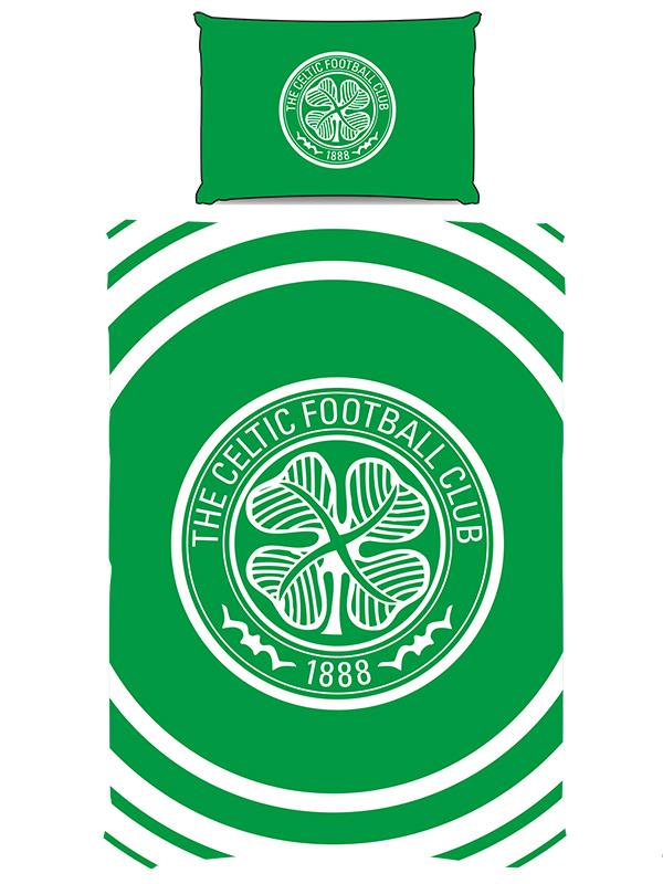 Celtic FC Pulse Single Duvet Cover and Pillowcase Set