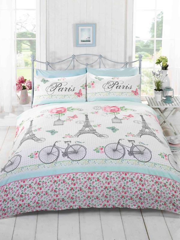 Price Right Home C'est La Vie Paris King Size Duvet Cover and Pillowcase Set