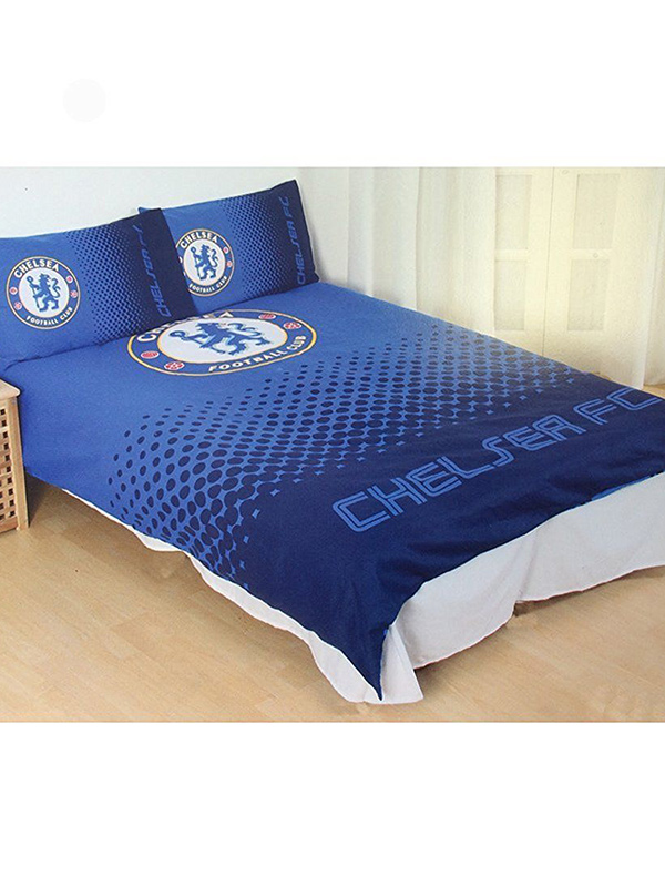 chelsea fc fade double duvet cover and pillowcase set