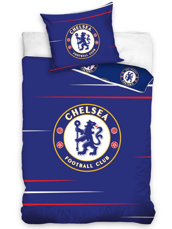 Chelsea FC Blue Single Cotton Duvet Cover Set - European Size