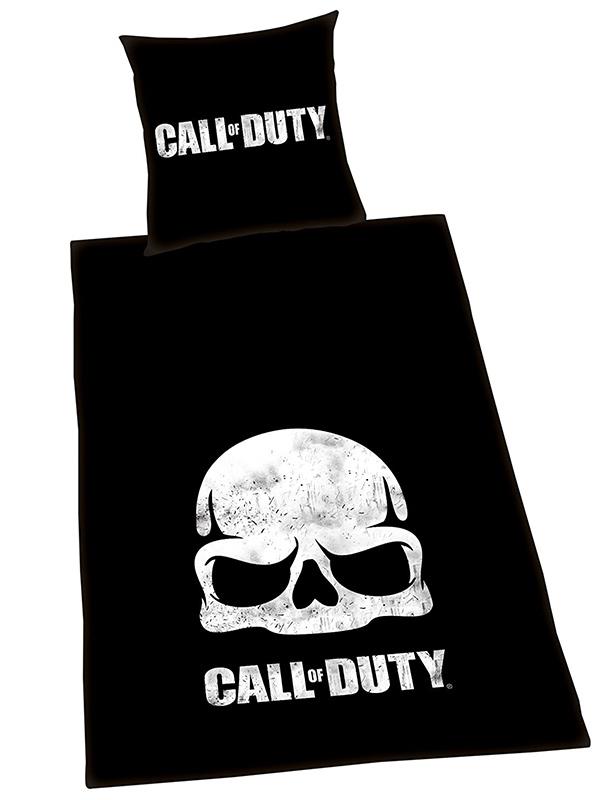 Call Of Duty Black Ops Skull Single Duvet Cover Set - European Size