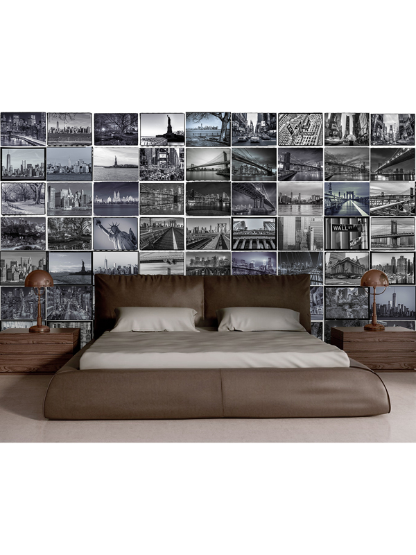 Creative Collage New York Big Apple Designer Wall Mural 64 Piece