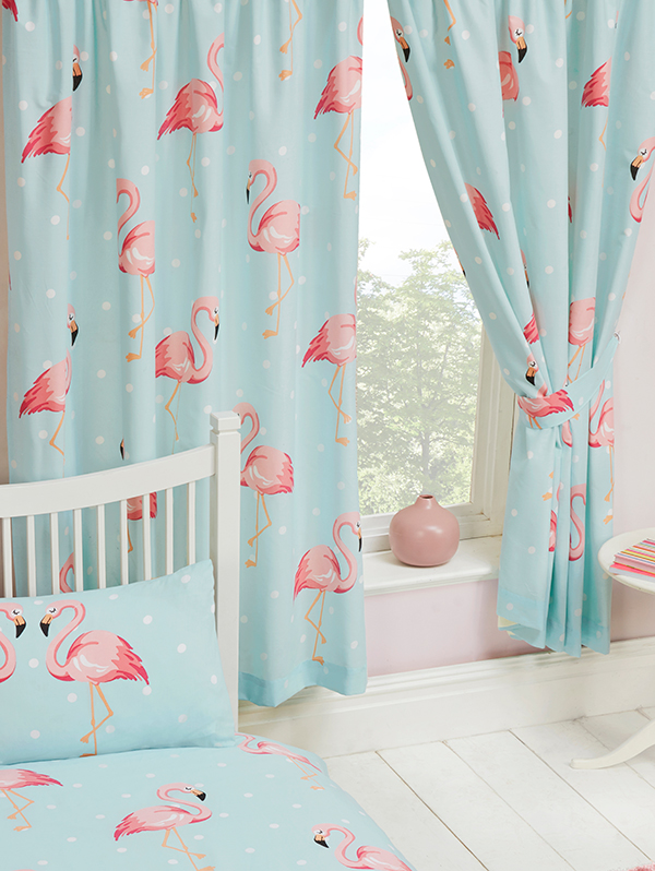 Home & Garden|Curtains & Accessories|Arsenal London Fifi Flamingo Lined Curtains