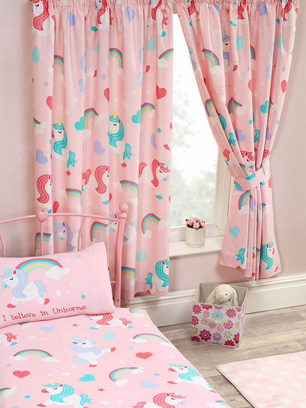 Price Right Home I Believe In Unicorns Lined Curtains