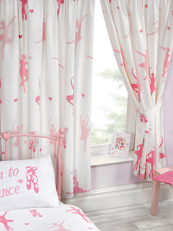born to dance ballerina lined curtains