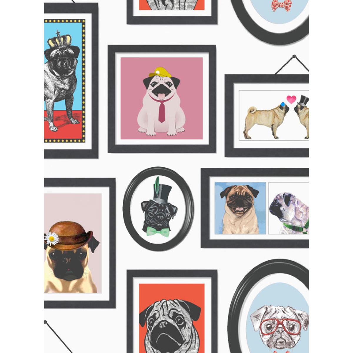 Newcastle United Bedroom Wallpaper A Pugs Life Pug Frames Wallpaper 11360