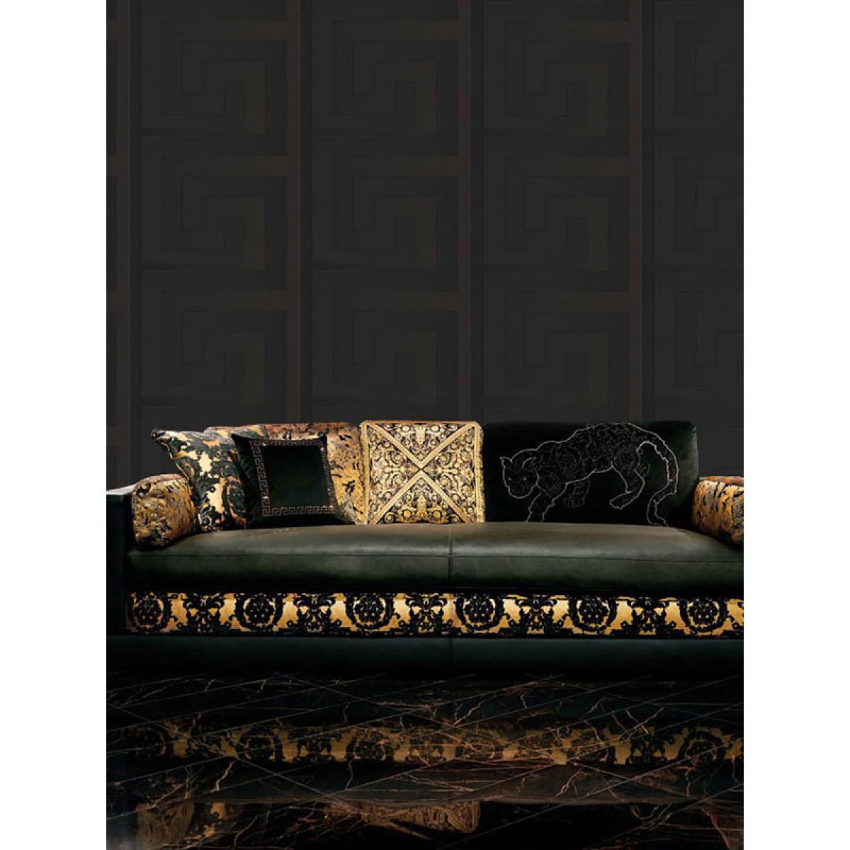 Versace Greek Key Wallpaper 10m X 70cm Black 93523 4