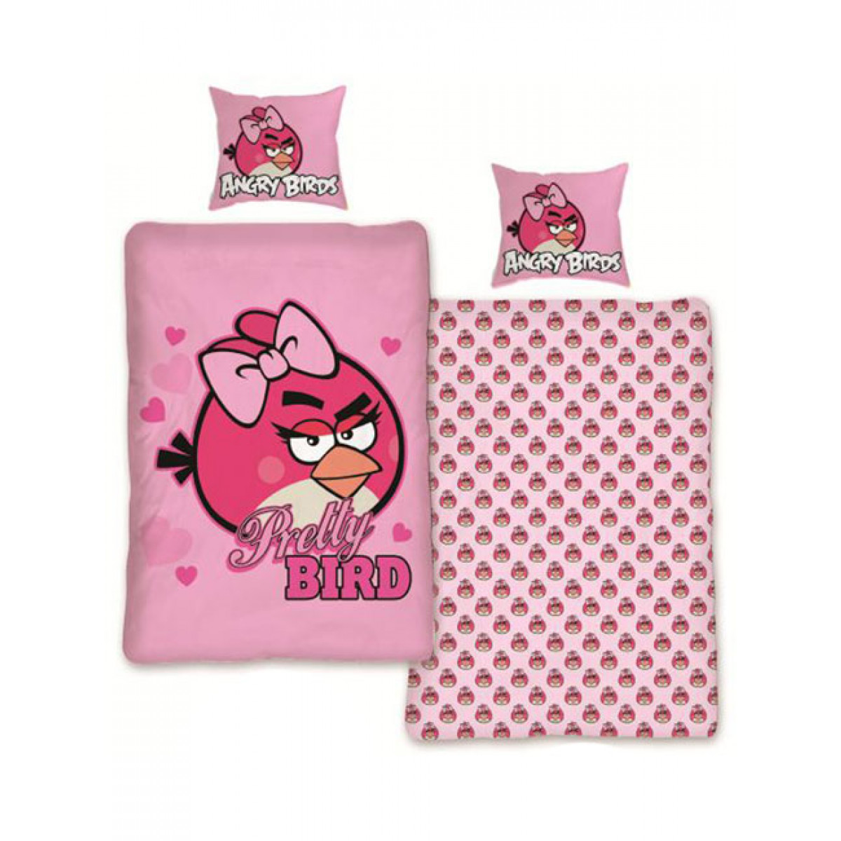 Angry Birds Pink Duvet Cover And Pillowcase Set Pretty Bird