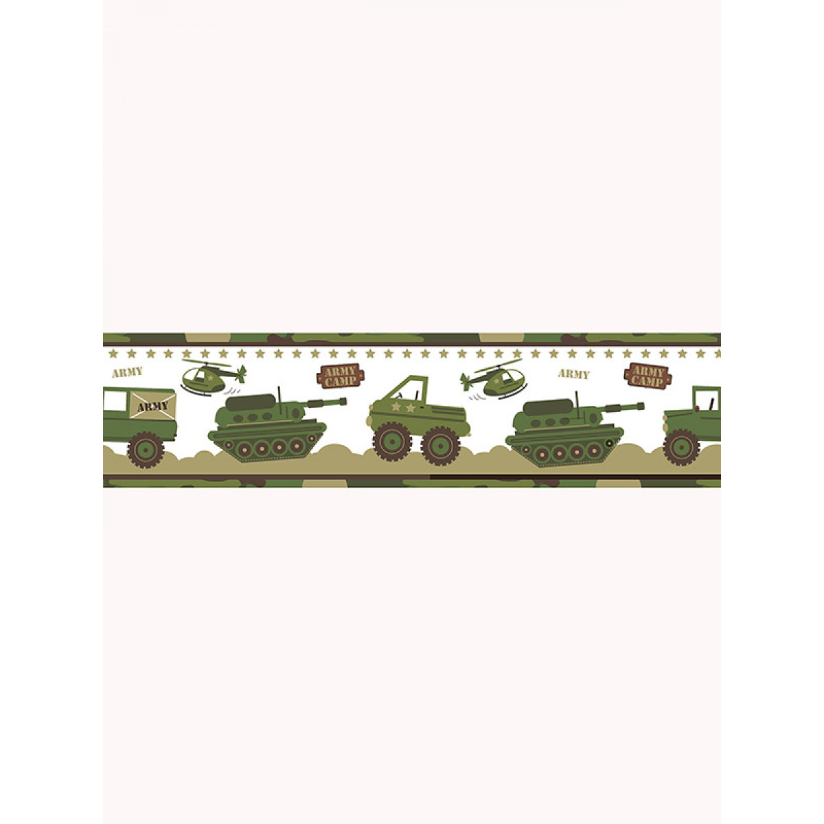 Price Right Home Army Camp Wallpaper Border A128 Aa