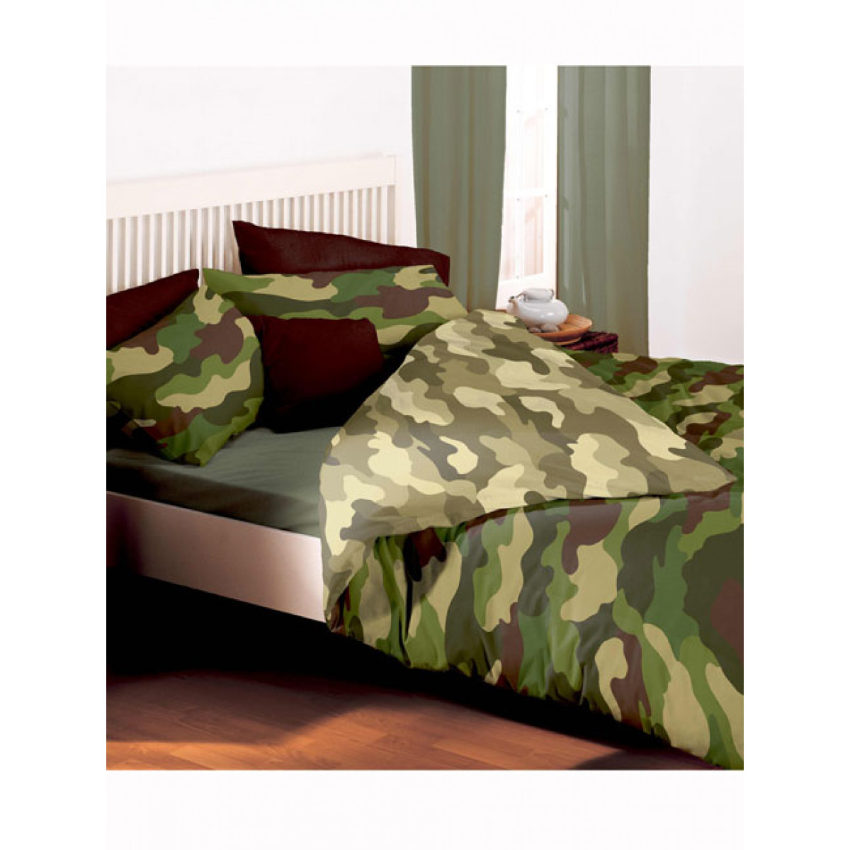 army camo double duvet bedding set price right home. Black Bedroom Furniture Sets. Home Design Ideas