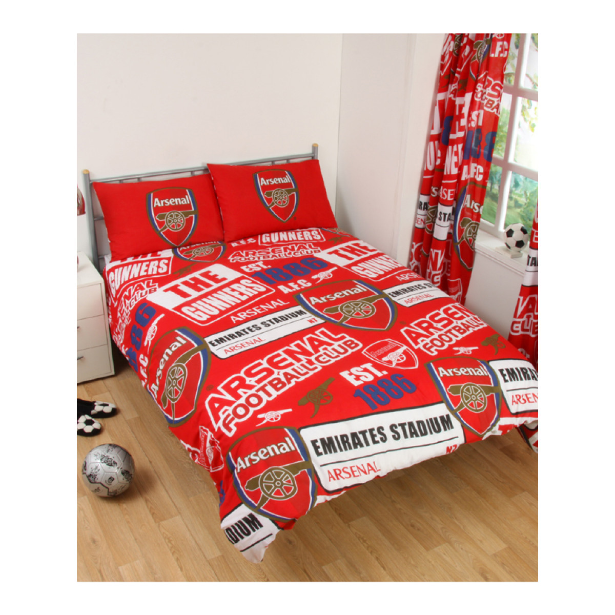 Arsenal Fc Patch Double Duvet Bedding Set Price Right Home