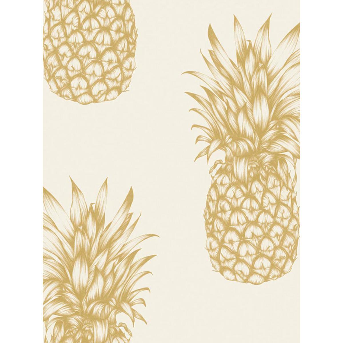 Tropics Copacabana Pineapple Wallpaper Gold Arthouse