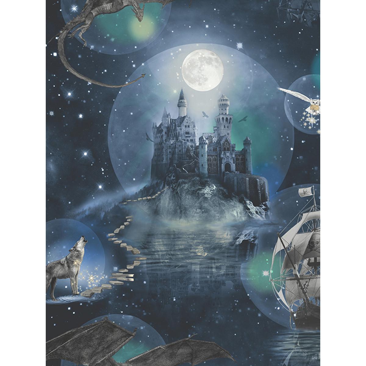 Magical Kingdom Wallpaper Blue Arthouse 696100 Fantasy