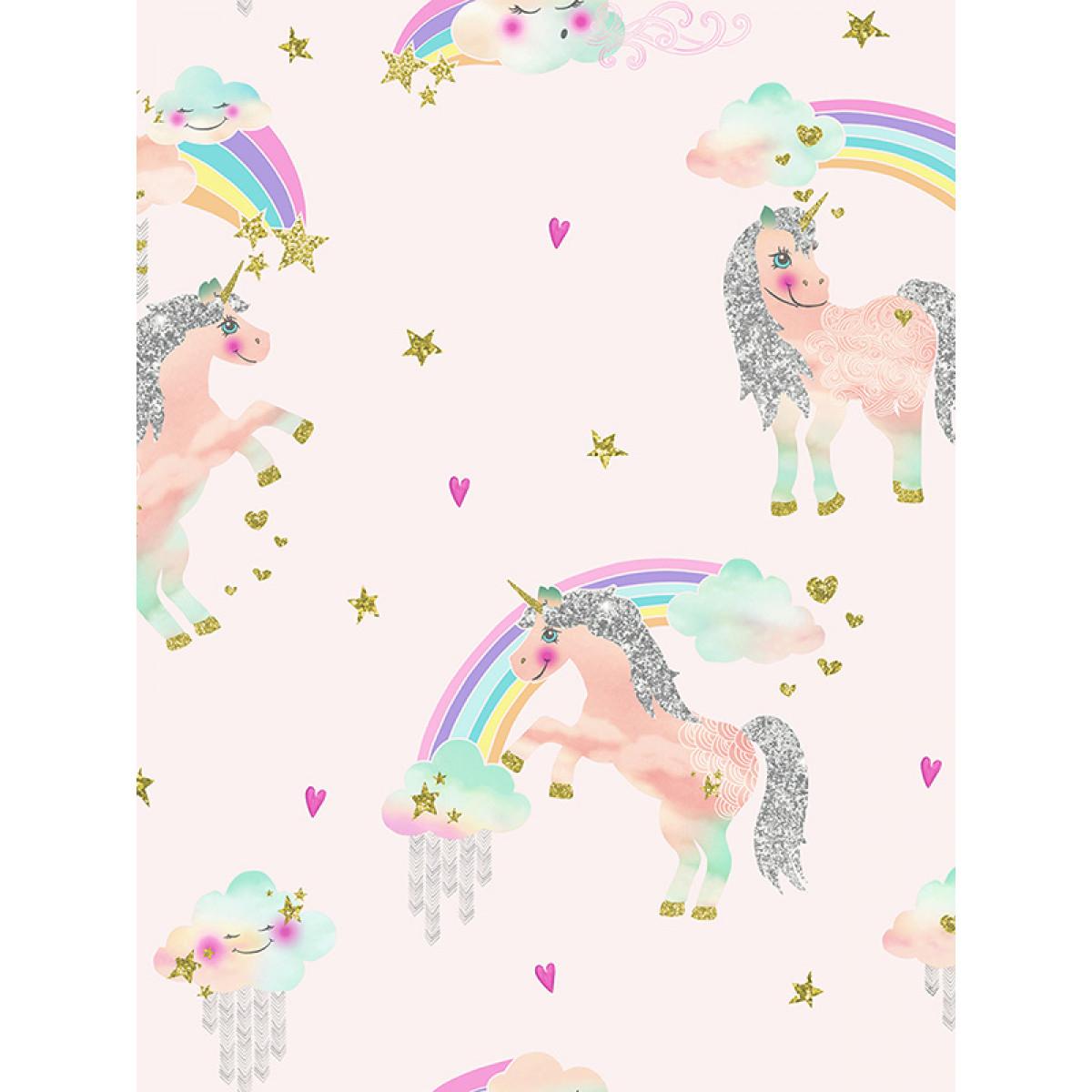art179 rainbow unicorn pink wallpaper p