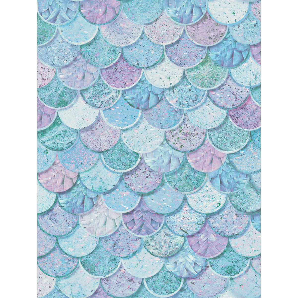 Mermazing Mermaid Scales Glitter Wallpaper Ice Blue Aqua