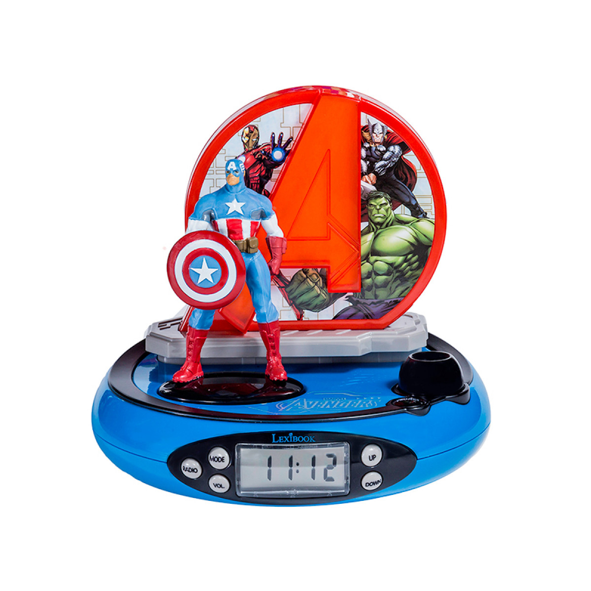 Marvel Avengers Radio Alarm Clock Projector Boys Bedroom