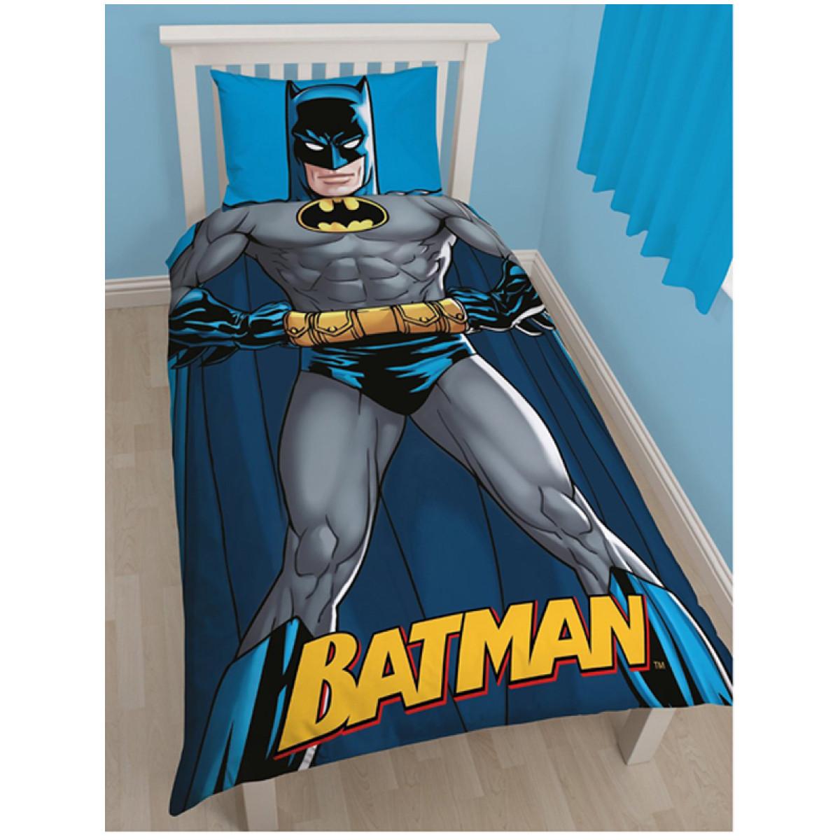Batman Shadow Single Duvet Cover And Pillowcase Set