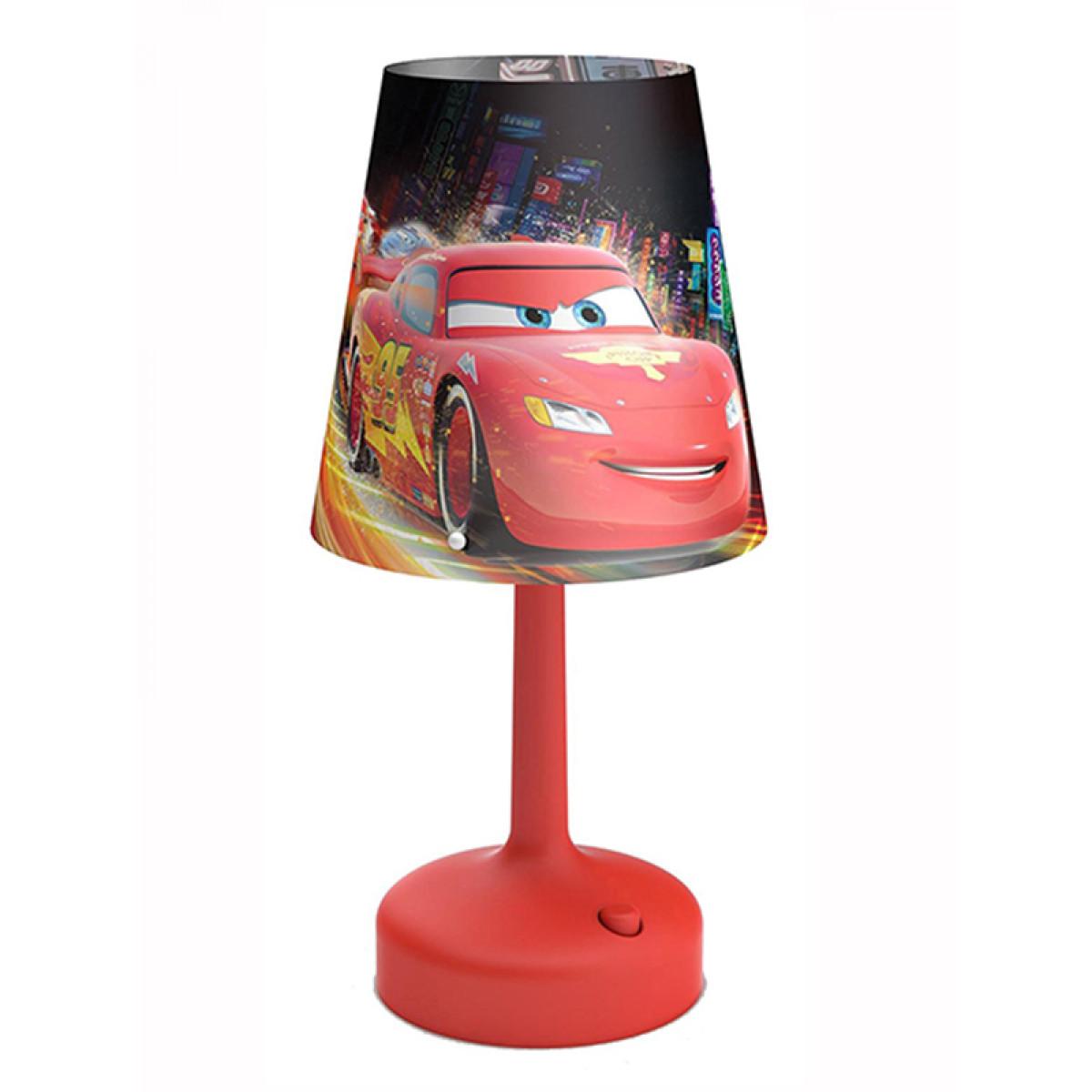 disney cars portable table lamp lighting bedroom. Black Bedroom Furniture Sets. Home Design Ideas