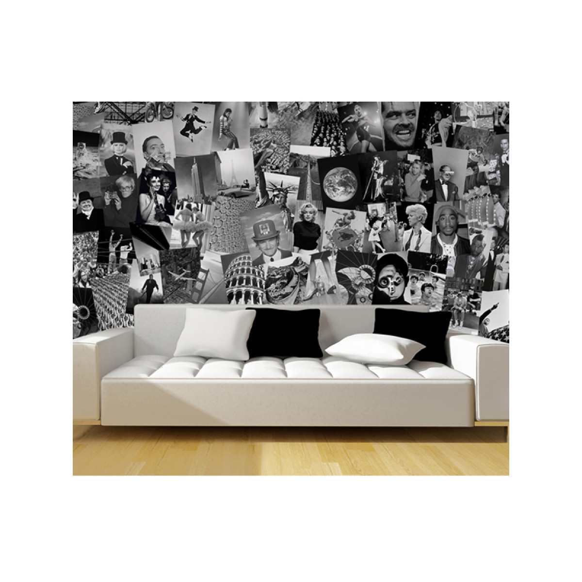 Creative collage life designer wall mural 64 piece for Mural collage