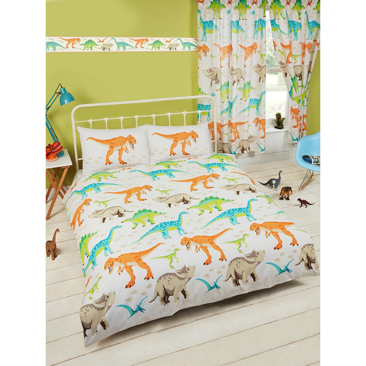 Dinosaur World Double Duvet Cover Bedding Bedroom T Rex Quilt