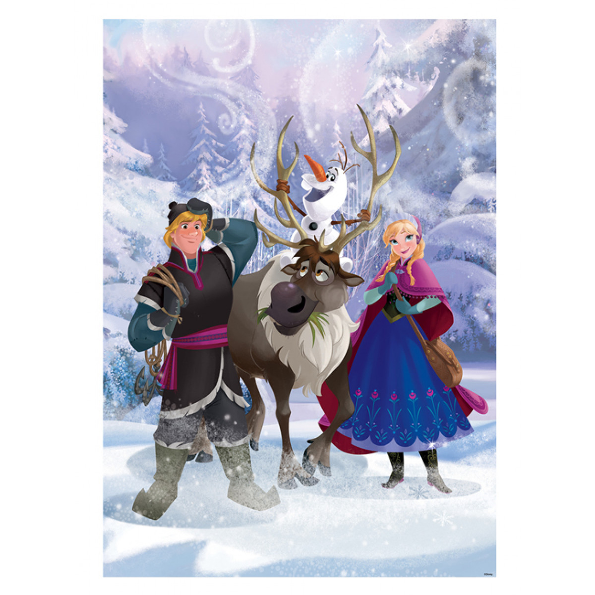 Disney Frozen Anna And Kristoff Wall Mural 254cm X 184cm