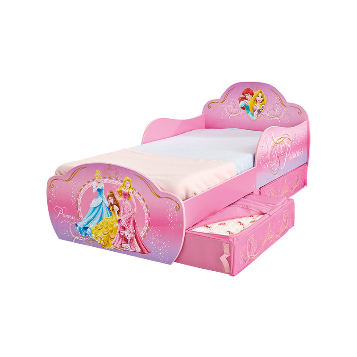 Disney Princess Toddler Bed With Storage Bedroom