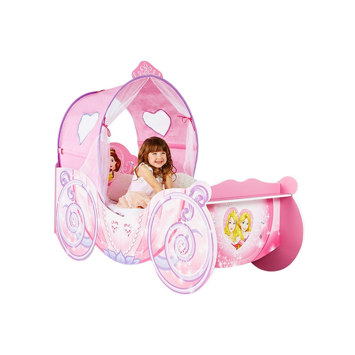 Disney Princess Carriage Feature Toddler Bed Plus Foam ...