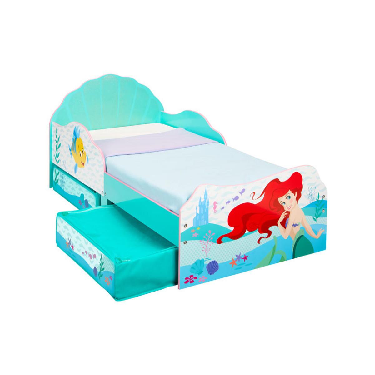 Disney Princess Ariel Toddler Bed With Sprung Mattress and ...