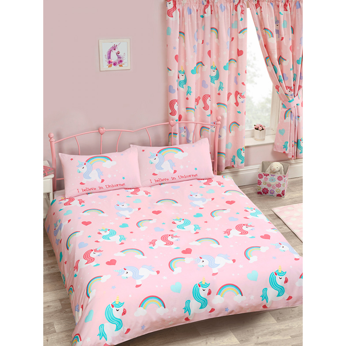 Unicorns Double Duvet Cover I Believe In Unicorns Bedding