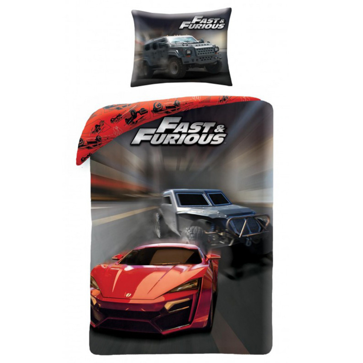 Fast Amp Furious Speed Single Cotton Duvet Cover And