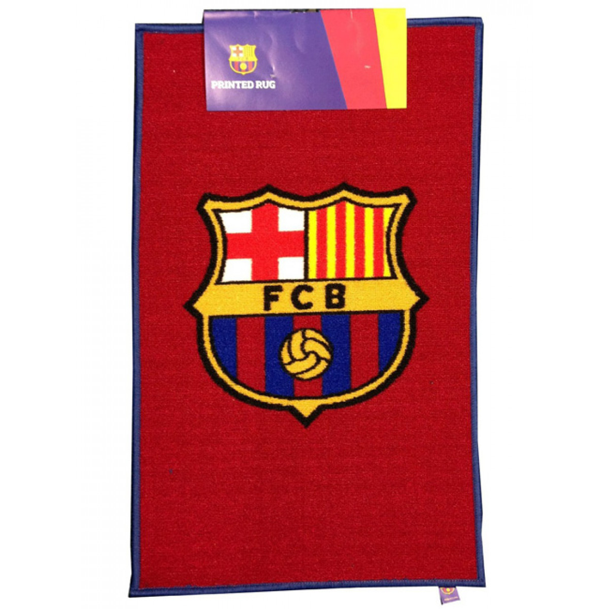 Fc barcelona crest floor rug biocorpaavc