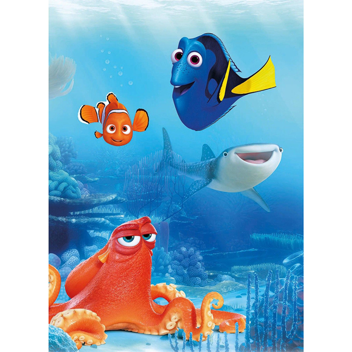 finding dory nemo and friends wall mural 184cm x 254cm. Black Bedroom Furniture Sets. Home Design Ideas