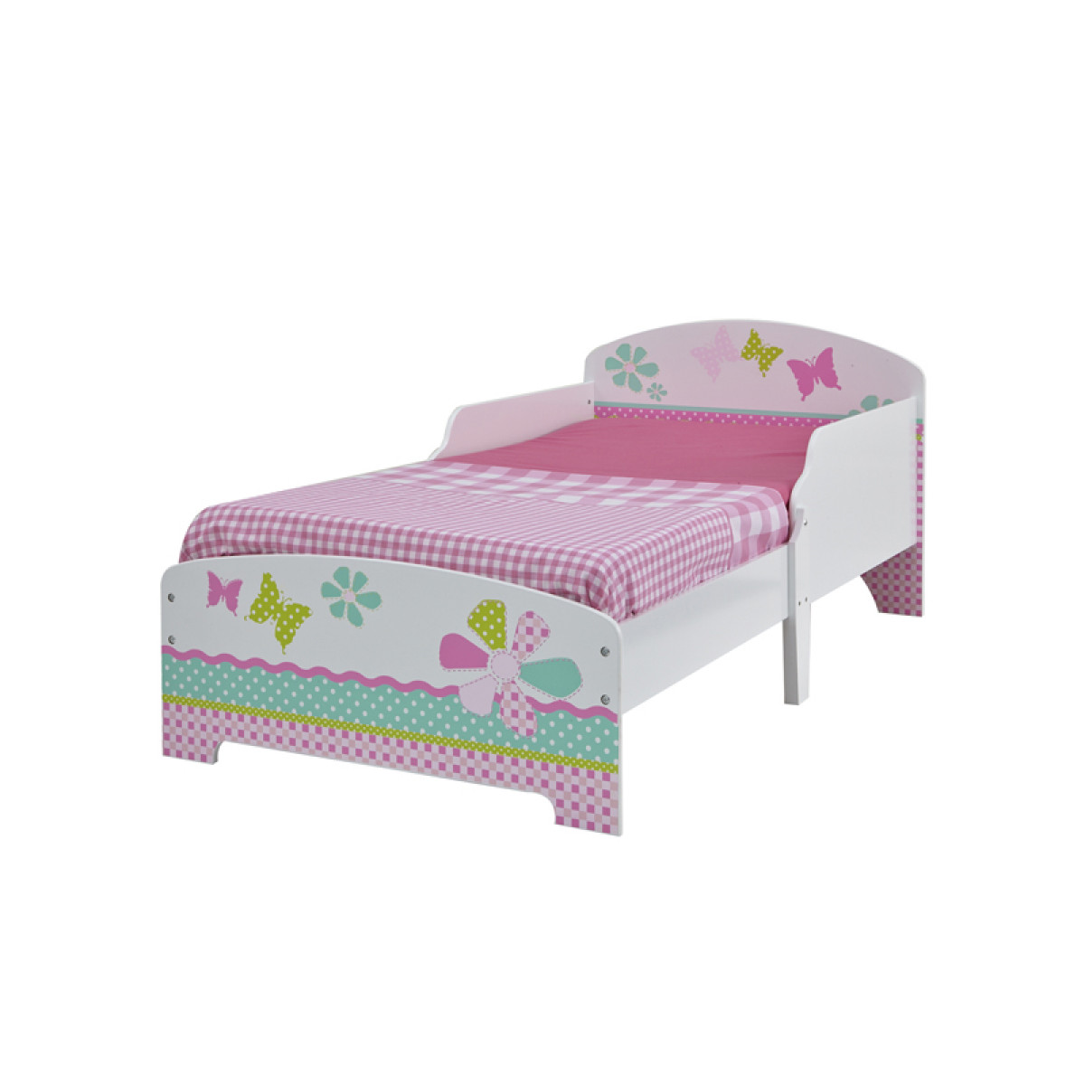 Girls Pretty N Pink Patchwork Toddler Bed