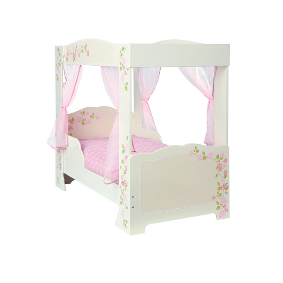 girls rose 4 poster toddler bed. Black Bedroom Furniture Sets. Home Design Ideas