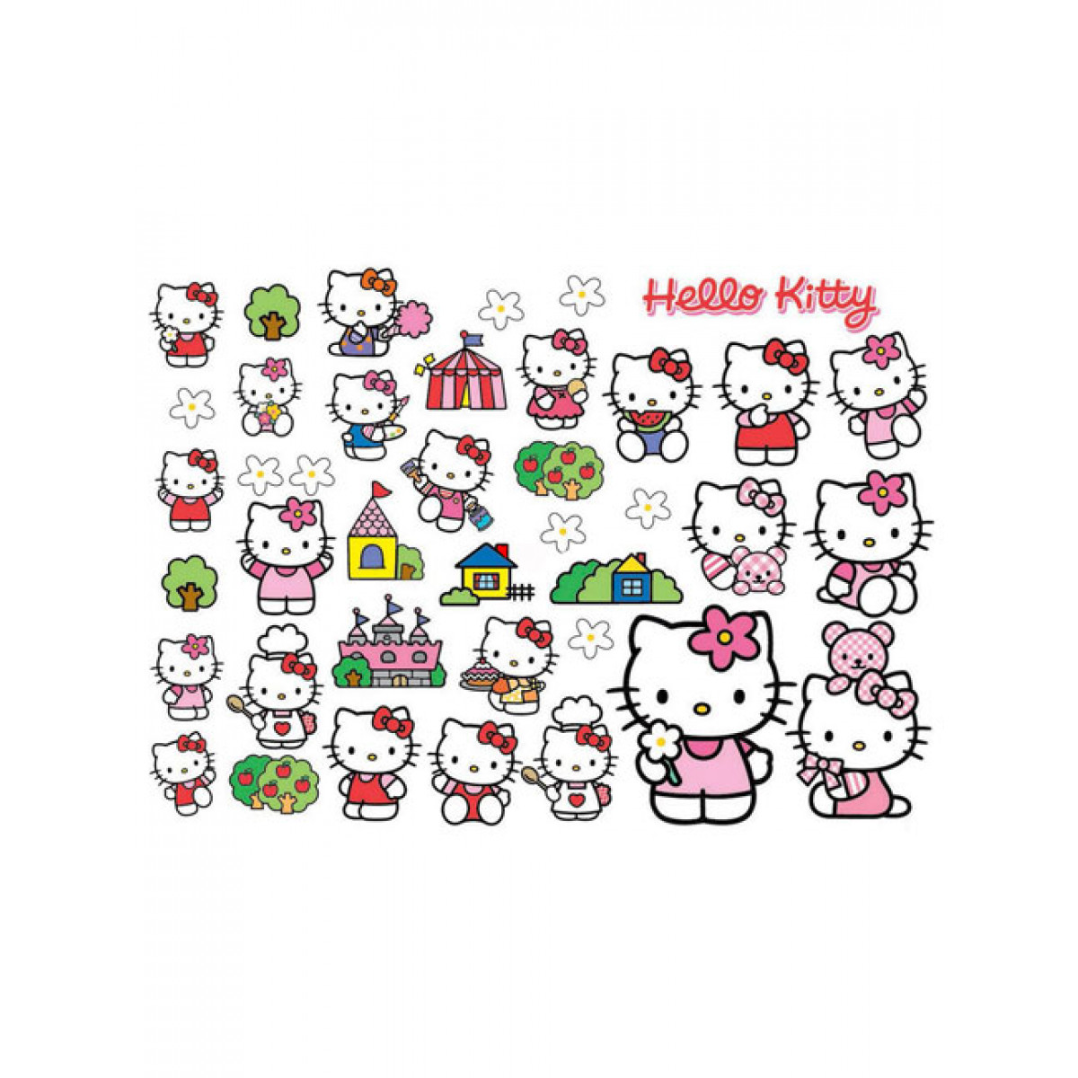 hello kitty wall stickers 40 pieces bedroom