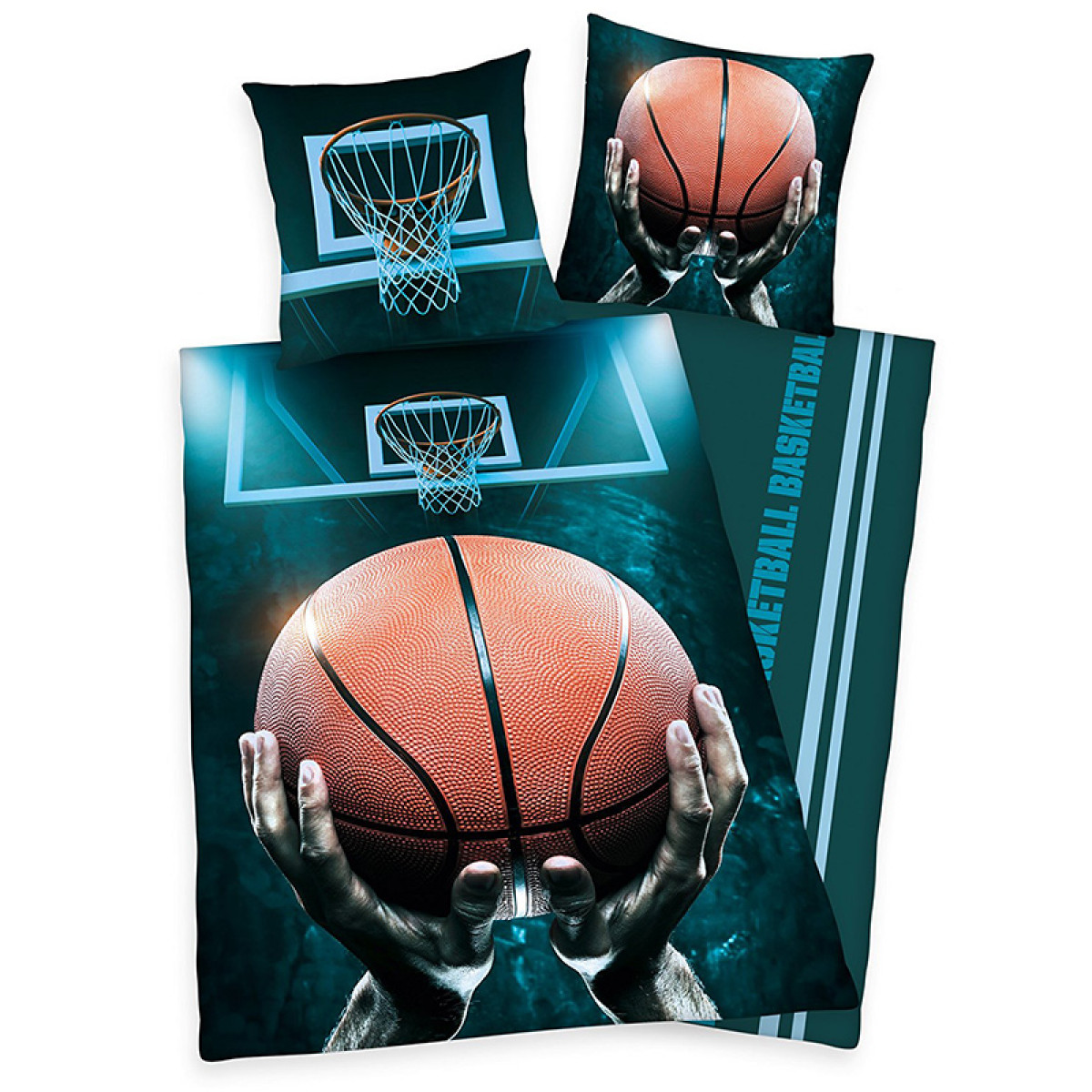 Basketball Single Duvet Cover And Pillowcase Set Bedding