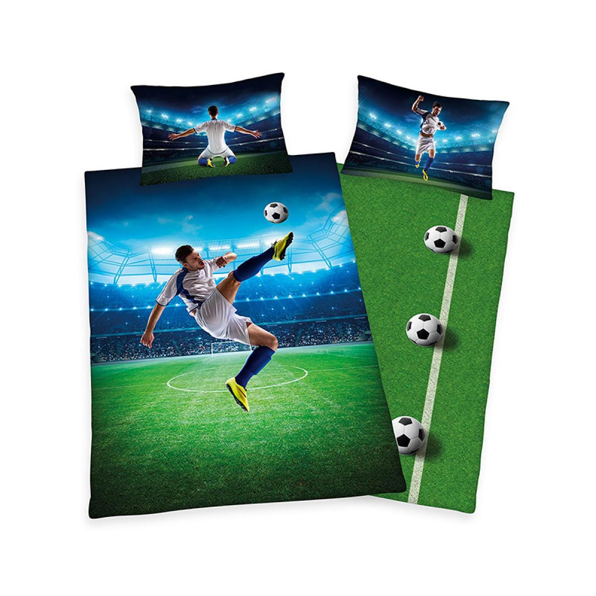 Football Bicycle Kick Single Duvet Cover And Pillowcase